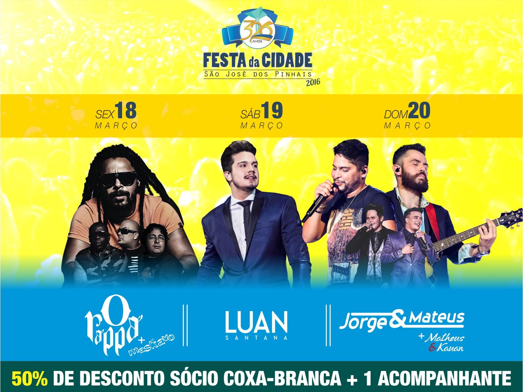 Ingressos para shows no Goleada Coxa-Branca